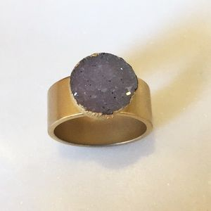 Anthropologie Druzy Crystal Ring